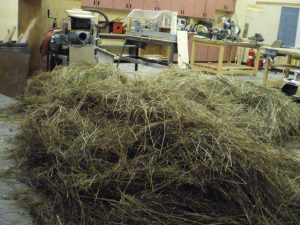 The hayloft (aka the shop floor)