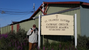 Small world: from St. Francis Xavier Basilica in Dyersville, Iowa (Hans' hometown) to St. Francis Xavier in Kotzebue.