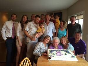 Many of the Boenish family gathered to celebrate her birthday. Happy birthday, Ann!